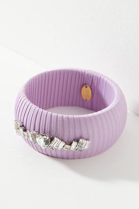 Katrina Bangle Bracelet By Rada in Purple Size ALL