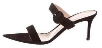 Gianvito Rossi Camnero Suede Sandals w/ Tags