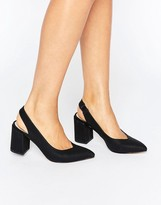 London Rebel Slingback Kitten heel Shoes