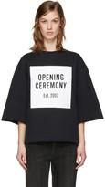 Opening Ceremony Black Oversized Box Logo Sweatshirt