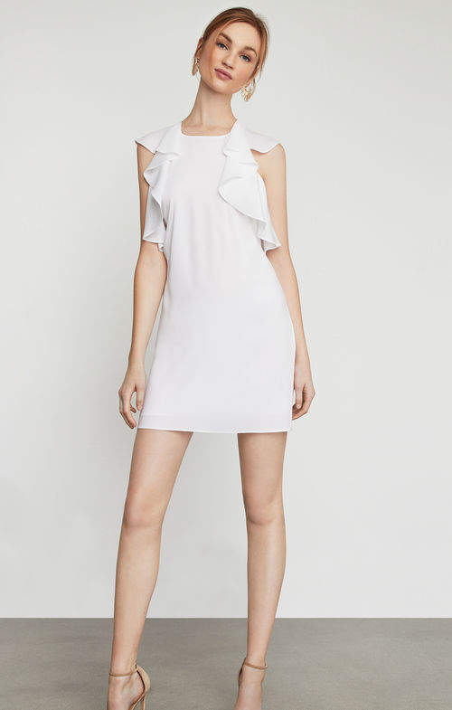 BCBGMAXAZRIA Jenni Ruffle-Shoulder Racerback Dress