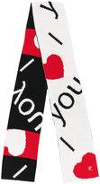 Raf Simons love intarsia scarf