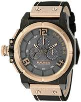 Haurex Italy Men's 6N510UNN Space Chrono Analog Display Quartz Black Watch