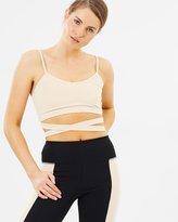 Sarah Ballerina Active Wrap Crop Top