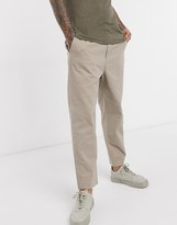 AllSaints Muro slim fit trousers in sand