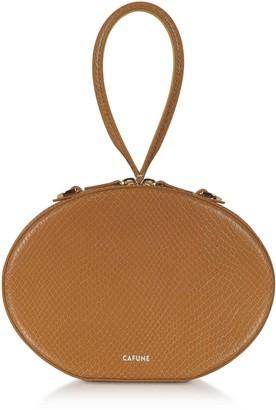 Cafune Caramel Leather Egg Bag
