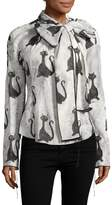 Marc Jacobs Women's Printed Bow Blouse