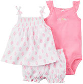 Carter's 3-pc. Flutter-Strap Dress and Bodysuit Set - Baby Girls newborn-24m