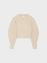 DKNY Merino Wool Pullover With Back Opening