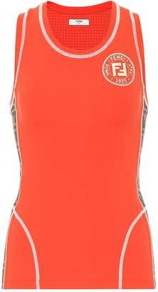 Fendi Technical jersey tank top