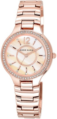 Anne Klein Womens Analogue Classic Quartz Watch with Stainless Steel Strap AK/N1854RMRG