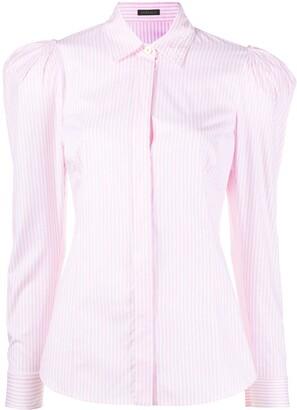 Versace voluminous shoulder striped shirt