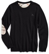 Burberry Boy's Elbow Patch Cashmere Sweater