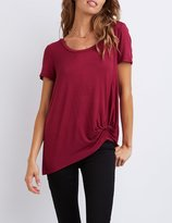 Charlotte Russe Knotted Boyfriend Tee