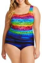 Longitude Plus Double X-Back One-Piece Swimsuit