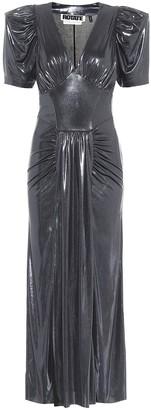 Rotate by Birger Christensen Alma metallic maxi dress