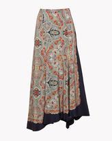 Theory Scarf Print Skirt