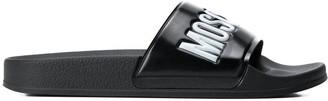 Moschino Logo Strap Slides