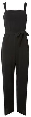 Dorothy Perkins Womens Tall Black Pinafore Jumpsuit, Black