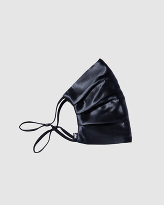 Slip Black Face Masks - Reusable Silk Face Covering - Size One Size at The Iconic