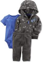 Carter's 3-Pc. Space-Print Fleece Hoodie, Bodysuit & Pants Set, Baby Boys