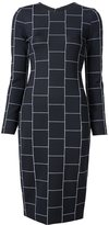 Christian Siriano check print fitted dress