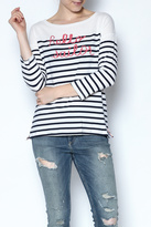 Sundry Striped Hello Sailor Top