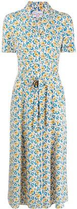 HVN Floral-Print Dress