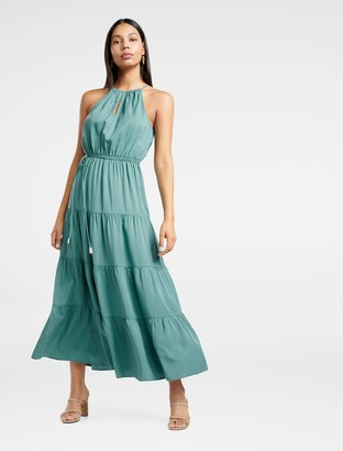 Forever New Annie Tiered Maxi Dress - Green Teal - 4