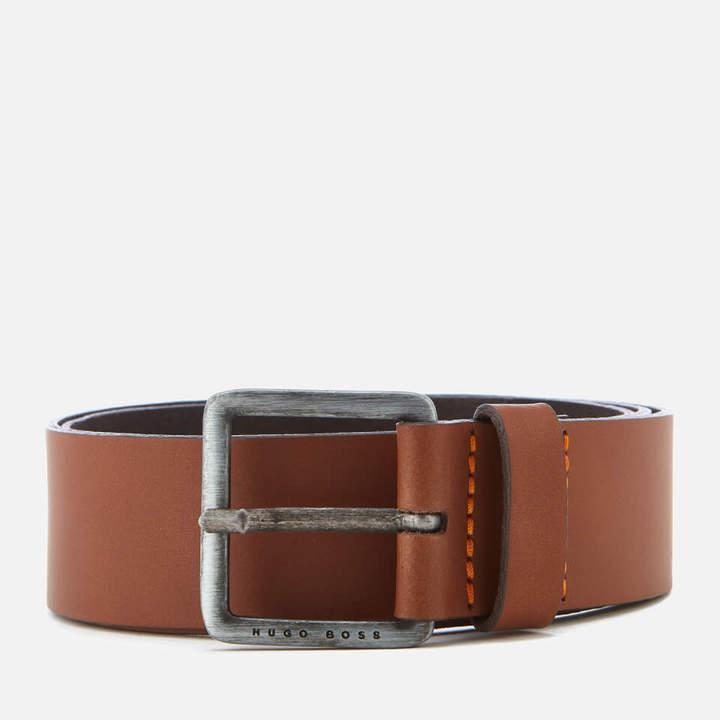 BOSS ORANGE Men's Jeeko Leather Belt