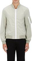 Nlst Men's Nylon Canvas Ma-1 Jacket-Light Grey, Grey Size Xs