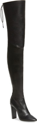 Saint Laurent Moon Leather Over the Knee Boot