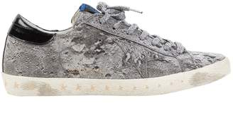 Golden Goose Superstar Silver Cloth Trainers