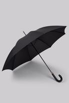 Fulton Tall Leather Handle 'Minister' Umbrella Black