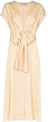 Silvia Tcherassi Aperol tie-waist midi dress