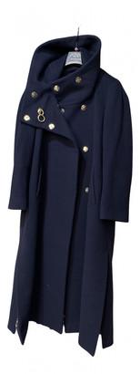 Roberto Cavalli Blue Wool Coats