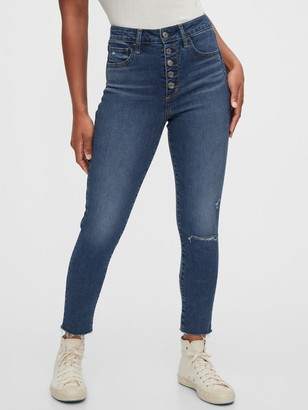 Gap High Rise Distressed Universal Jegging with Secret Smoothing Pockets