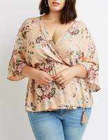 Charlotte Russe Plus Size Floral Wrap-Tie Top