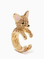 Kate Spade Haute stuff chihuahua ring