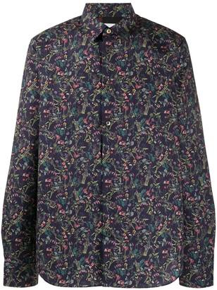 Paul Smith Floral Print Long Sleeved Shirt