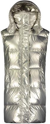 Yves Salomon Nylon Down Vest w/ Lamb Fur Collar