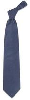 Forzieri Dark Blue Solid Smooth Silk Tie