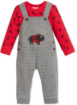 First Impressions Baby Boys' 2-Pc. T-Shirt & Quilted Overall Set, Only at Macy's