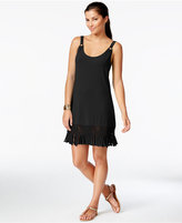 Dotti Fringe-Trim Hardware Dress Cover-Up