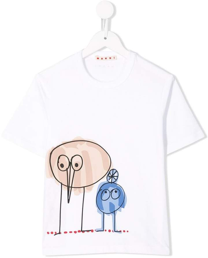 Marni cartoon print T-shirt