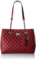 Calvin Klein Quilted Pebble Leather Tote Bag