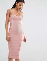 Boohoo Exclusive Bandeau Bandage Midi Dress