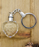 Pink Box Accessories Women's Key Chains Silver - Stainless Steel 'My Greatest Laughter' Light-Up Key Chain