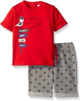 Petit Lem Boys' 2 Piece Set Short Sleeve Top and Short