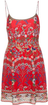 Alice + Olivia Wild Flower Print Short Dress